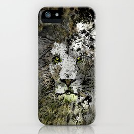 LION KING OF BEASTS ABSTRACT PORTRAIT iPhone Case