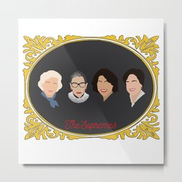 Supreme Court Justice Ruth Bader Ginsburg's in frame Metal Print