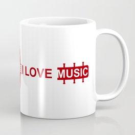 I love music #society6 #decor #buyart #artprint Coffee Mug