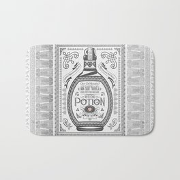 Legend of Zelda Red Potion Vintage Hyrule Line Work Letterpress Bath Mat