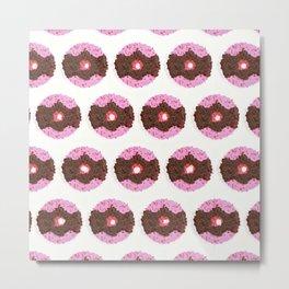 Chocolate Donuts Pattern Metal Print