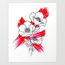 Poppies Blow Art Print