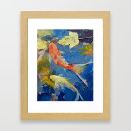 Autumn Koi Garden Framed Art Print