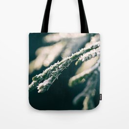Ice Crystals And Sunshine Tote Bag