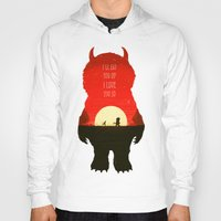 wild things Hoodies featuring Wild Things by Duke Dastardly