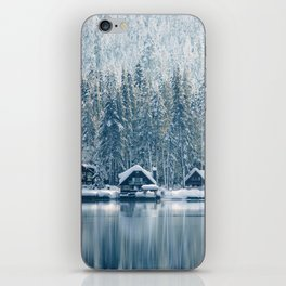 Winter's Cottage (Color) iPhone Skin