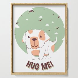 Hug Me Bulldog Puppy Serving Tray
