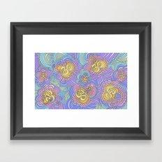 Drawing Meditation: Namaste (rainbow version) Framed Art Print