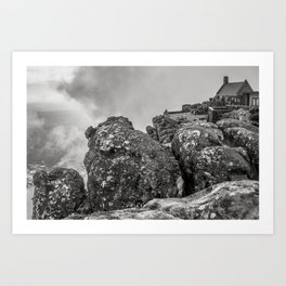 Table mountain view, Cape Town. Art Print