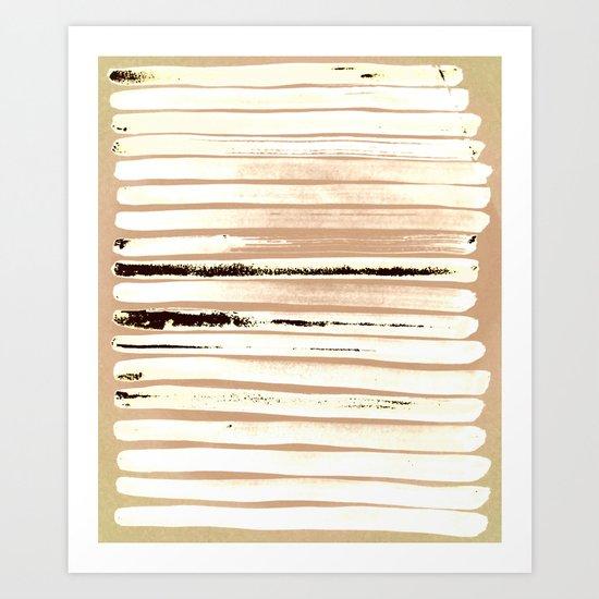 Brown Earth Lines Art Print