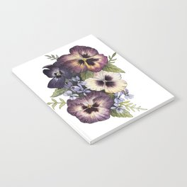 Watercolor Pansy Bouquet Notebook