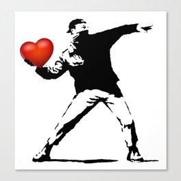 Banksy - heart thrower Canvas Print
