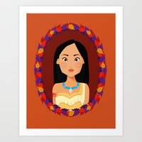 pocahontas Art Prints featuring Pocahontas by Joey Ellson