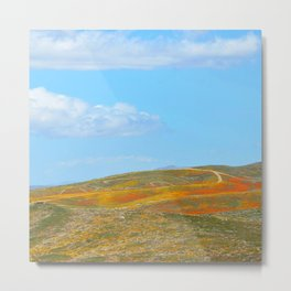 Blooming Hills Metal Print