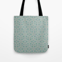 Mint and Cream Pastel Star Pattern Tote Bag