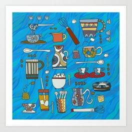 Coffee Time any Time Art Print