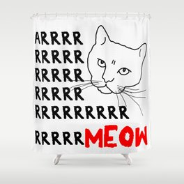 Arrrrrr Meow Shower Curtain
