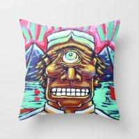 cyclops Throw Pillows featuring CYCLOPS by M. Ali Kahn
