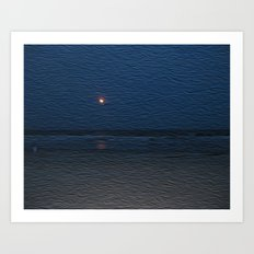 Yellow Moon Art Print