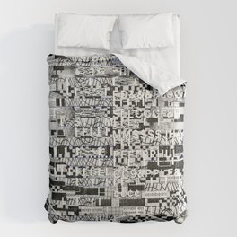 Confused Images Behind the Interface (P/D3 Glitch Collage Studies) Comforters