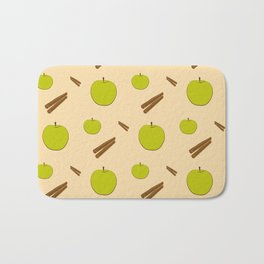 Sweet pattern with apple and cinnamon Bath Mat
