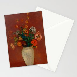 """Odilon Redon """"Bouquet in a Chinese Vase"""" Stationery Cards"""