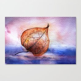 Watercolor Physalis in Light Canvas Print