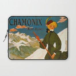 Vintage Chamonix Mont Blanc France Travel Laptop Sleeve