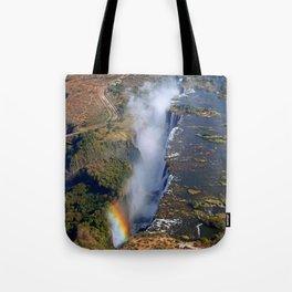 Flight over the Victoria Falls, Zambia Tote Bag