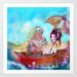 boat trip Art Print