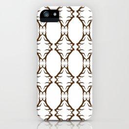 Modern Antler:  Brown iPhone Case