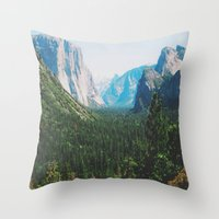 narnia Throw Pillows featuring Pseudo Narnia by floramingo