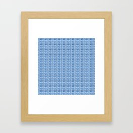 Blue Fish Block Print Framed Art Print