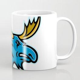 Bull Moose Head Mascot Coffee Mug