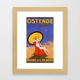 Ostend Queen of beaches jazz age Framed Art Print