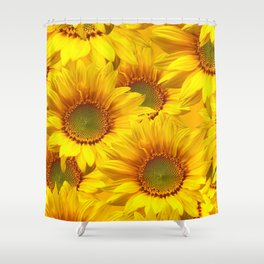 Yellow Mellow Sunflower Bouquet #decor #society6 #buyart Shower Curtain