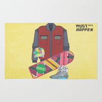 mcfly Area & Throw Rugs featuring Must Happen 2015 V2 by Sitchko Igor