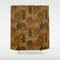 dragons Shower Curtains featuring Dragons by Paper Bicycle
