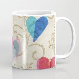 Vintage Hearts Coffee Mug