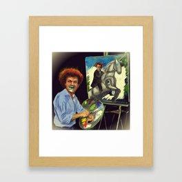 Steve Brule paints Framed Art Print