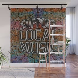 Support Local Music Wall Mural