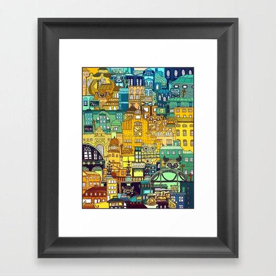 Shopping District Framed Art Print