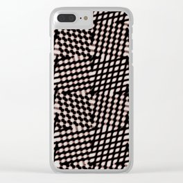 Checked Clear iPhone Case
