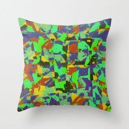 Vibrant Camo Throw Pillow