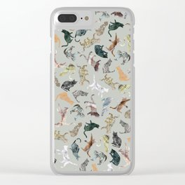 Marble Cats Clear iPhone Case