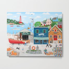 Where the Buoys Are Metal Print