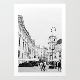 The streets of City Vienna | Austria | Europe | Travel Photography | Art Print | Architecture | Black and White Photography Art Print