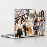 coachella Laptop & iPad Skins featuring Coachella Girls by Sara Eshak