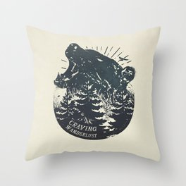 Craving wanderlust II Throw Pillow