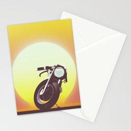 Vintage bike sunset Stationery Cards
